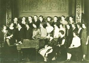 Wanda Landowska et ses élèves